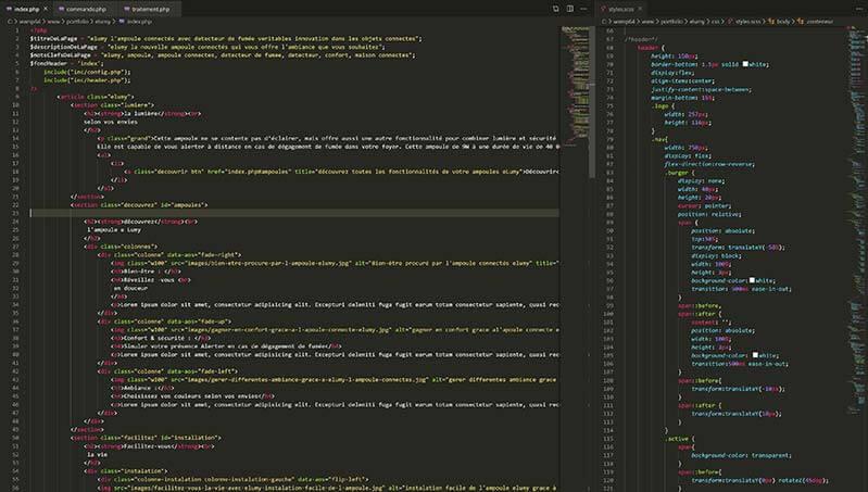 code html css sass php sepho web designer freelance france