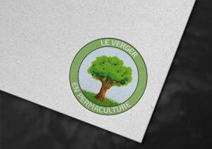 réalisation du logo du verger en permaculture projet participatif