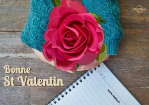 Création graphique de st valentin réalisé par sepholix web designer freelance