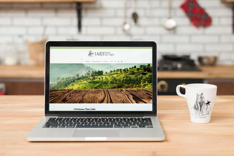 Réalisation site Web - Création boutique l'Artisanes thés cafés de St quentinn par sepho