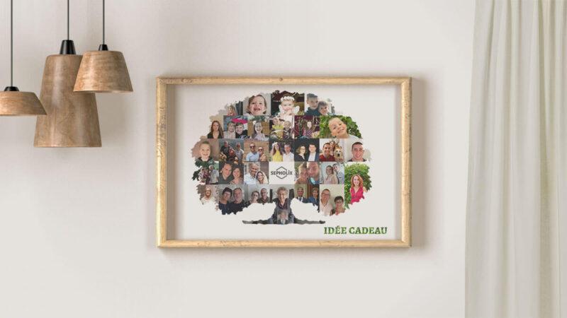 Idée cadeau - réalisation de cadeau original par le web designer sepholix - tableau famille - arbre généalogique_